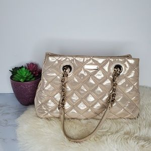 Kate Spade Metallic Quilted Gold Chain Bag